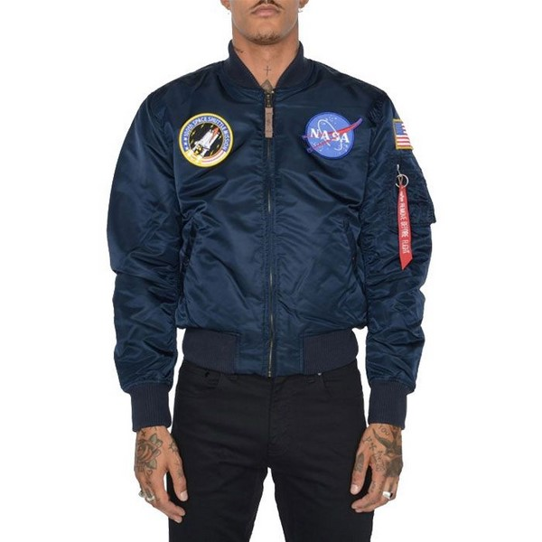 ΤΖΑΚΕΤ ALPHA INDUSTRIES MA-1 VF NASA ΜΠΛΕ